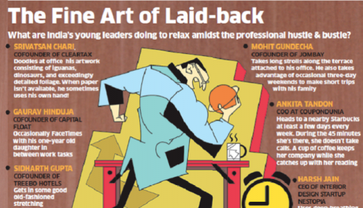 Photo of Hard-working young leaders find innovative ways to relax at work – The Economic Times