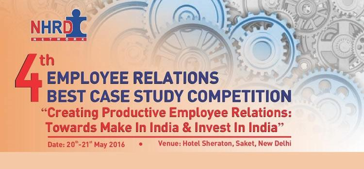 Photo of NHRDN 4thEmployee Relations best case study competition