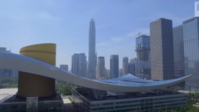 Photo of Tencent's vertical campus | Tech Wash