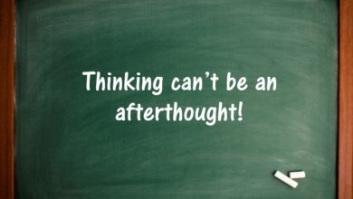 Photo of Thinking can't be an afterthought!