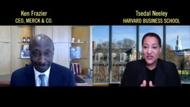 Photo of Merck CEO Ken Frazier & Tsedal Neeley talk COVID Vaccines, Racism & Why Leaders Need to Really Act