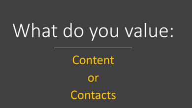 Photo of Content versus Contacts