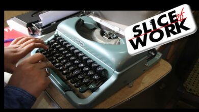 Photo of Typewriting and Aspirations….Slice of Work