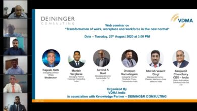 "Photo of VDMA India Webinar | ""Transformation of work, workplace and workforce in the new normal"""