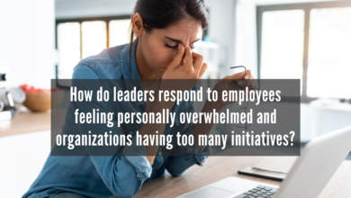 Photo of How do leaders respond to employees feeling personally overwhelmed and organizations having too many initiatives?